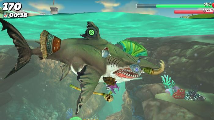 헝그리 샤크 월드 메갈로돈 공략 Hungry Shark World (7)