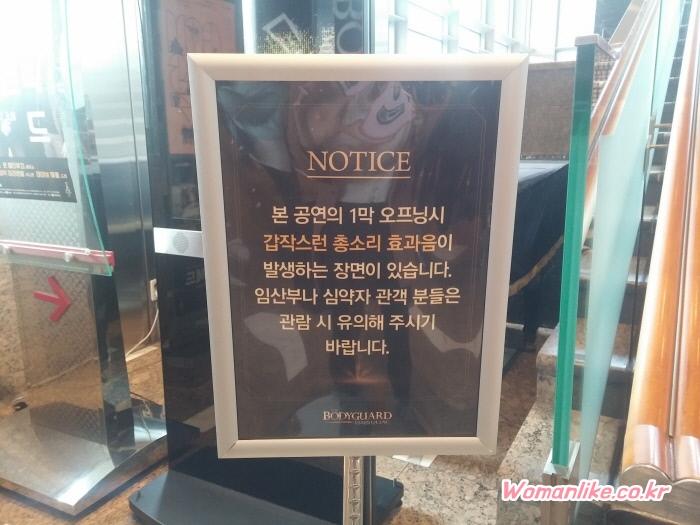 뮤지컬 보디가드 관람 후기 (2)