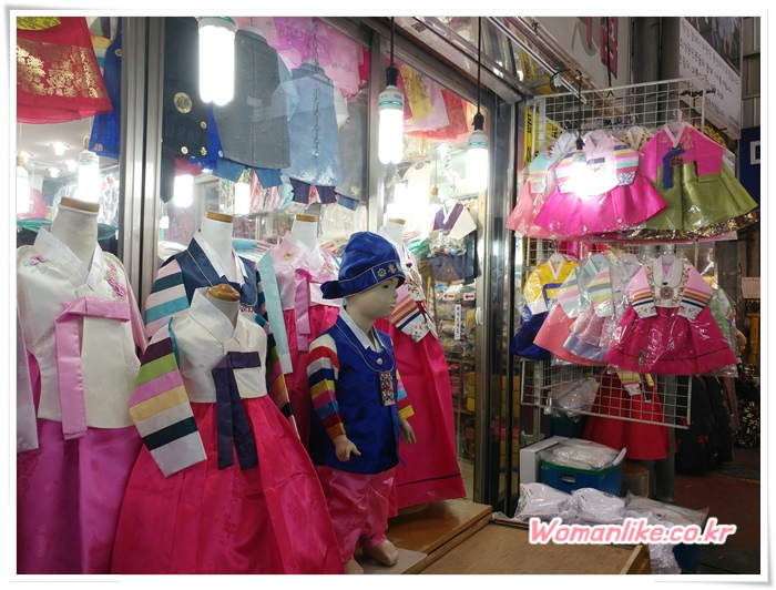 광장시장 한복 저렴한 아동한복 (2)