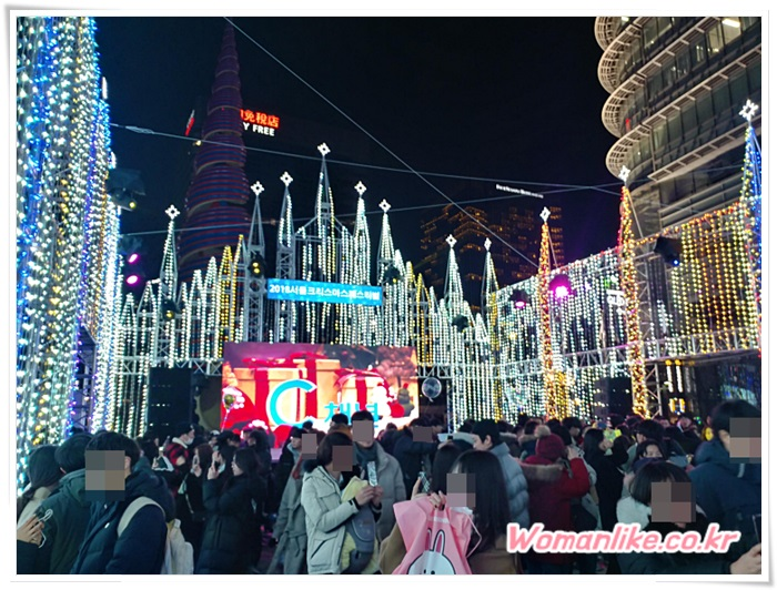 청계천 크리스마스 페스티벌 불빛 축제 (2)
