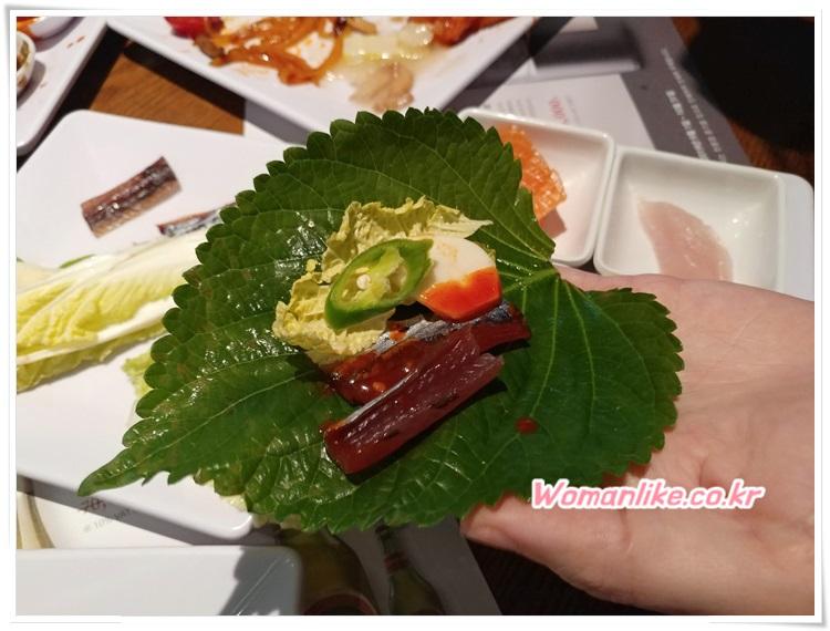 토다이 겨울 신메뉴 구룡포 과메기